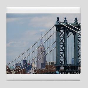 Empire State Building Manhattan Bridg Tile Coaster