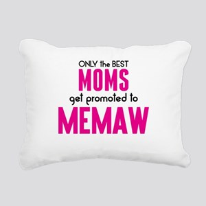 BEST MOMS GET PROMOTED TO MEMAW Rectangular Canvas
