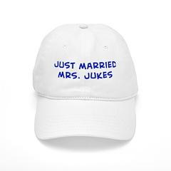just married Mrs. Jukes Baseball Cap