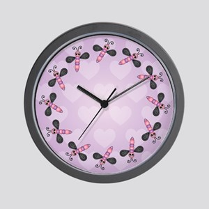 Whimsical Dragonfly Wall Clock