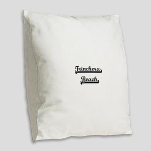 Trinchera Beach Classic Retro Burlap Throw Pillow