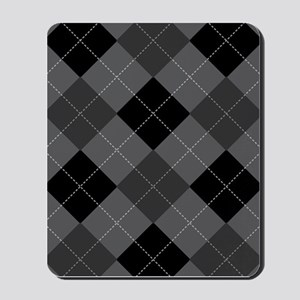 Black Gray Argyle Mousepad