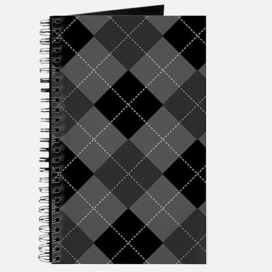 Black Gray Argyle Journal