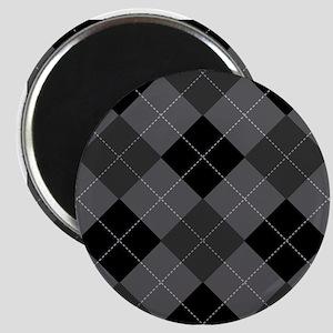 Black Gray Argyle Magnet