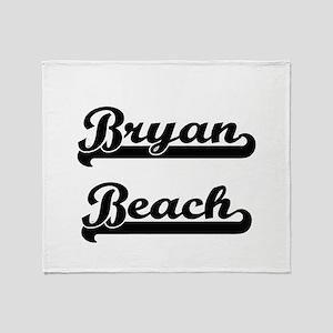 Bryan Beach Classic Retro Design Throw Blanket