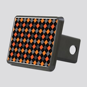 Pumpkin Charcoal Argyle Rectangular Hitch Cover