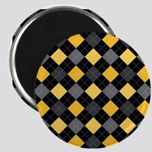 Yellow Charcoal Argyle Magnet