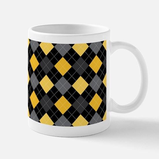 Yellow Charcoal Argyle Mug
