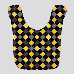 Yellow Charcoal Argyle Bib