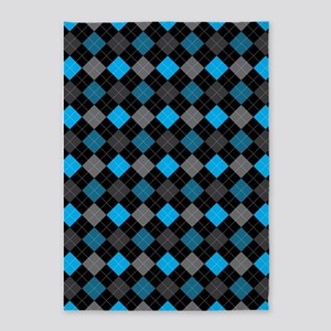 Blue Charcoal Argyle 5'x7'Area Rug