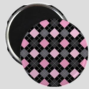 Pink Charcoal Argyle Magnet