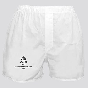 Keep Calm and Development Studies ON Boxer Shorts