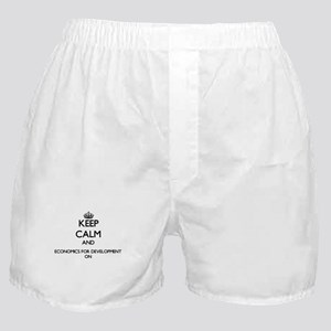 Keep Calm and Economics For Developme Boxer Shorts