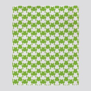 Lime Houndstooth Throw Blanket