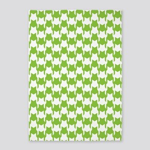 Lime Houndstooth 5'x7'Area Rug