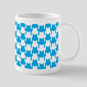 Blue Houndstooth Mug