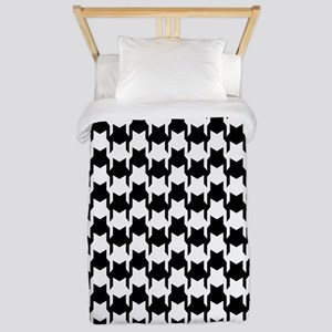 Black Houndstooth Twin Duvet