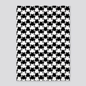 Black Houndstooth 5'x7'Area Rug