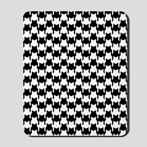 Black Houndstooth Mousepad