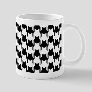 Black Houndstooth Mug
