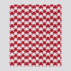 Red Houndstooth Throw Blanket