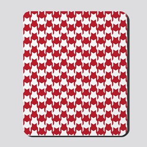 Red Houndstooth Mousepad