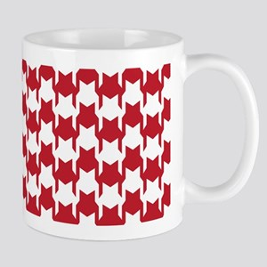 Red Houndstooth Mug