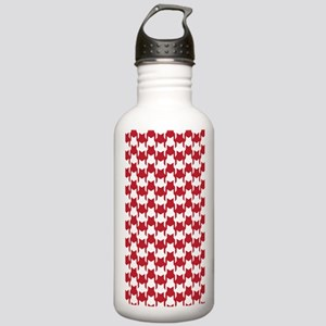 Red Houndstooth Stainless Water Bottle 1.0L
