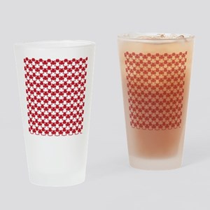 Red Houndstooth Drinking Glass