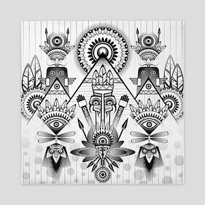 Abstract Ancient Native Indian Queen Duvet