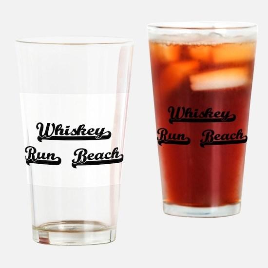 Whiskey Run Beach Classic Retro Des Drinking Glass