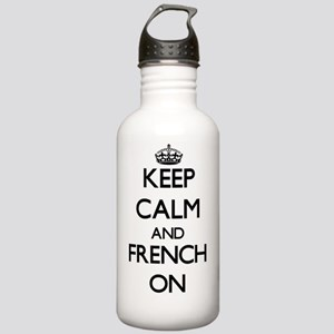 Keep Calm and French O Stainless Water Bottle 1.0L