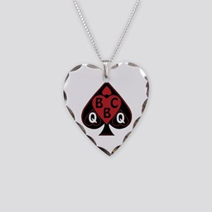 Queen Of Spades Loves Bbc-Red Necklace Heart Charm