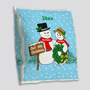 Our Nthe Christmas Burlap Throw Pillow