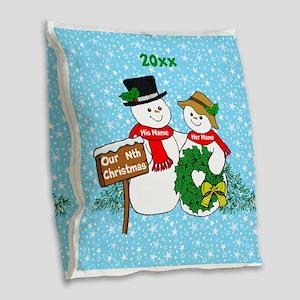 Our Nthe Christmas Burlap Throw Pillow