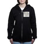 Parapsychology Wordle Women's Zip Hoodie