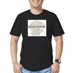 Parapsychology Wordle Men's Fitted T-Shirt (dark)