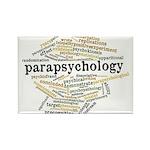 Parapsychology Wordle Rectangle Magnet