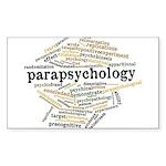Parapsychology Wordle Sticker (Rectangle 50 pk)
