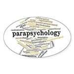 Parapsychology Wordle Sticker (Oval)