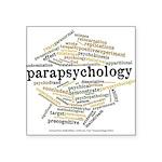 Parapsychology Wordle Square Sticker 3