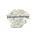 Parapsychology Wordle 35x21 Wall Decal