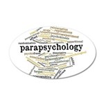Parapsychology Wordle 35x21 Oval Wall Decal