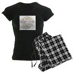 Parapsychology Wordle Women's Dark Pajamas