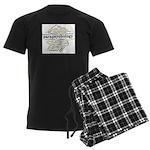 Parapsychology Wordle Men's Dark Pajamas