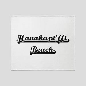 Hanakapi'Ai Beach Classic Retro Desi Throw Blanket