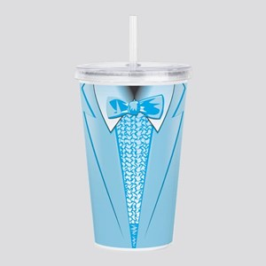 Powder Blue Tuxedo Acrylic Double-wall Tumbler