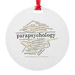Parapsychology Wordle Round Ornament
