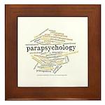 Parapsychology Wordle Framed Tile