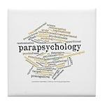 Parapsychology Wordle Tile Coaster
